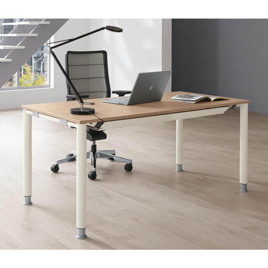 Palmberg systo tec schreibtisch 80 cm tiefe 80 200 cm for Schreibtisch tiefe