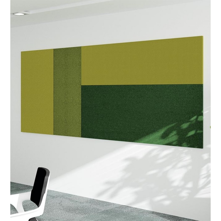 Palmberg Wand-Akustikabsorber - lackiert - horizontal - 80 cm hoch