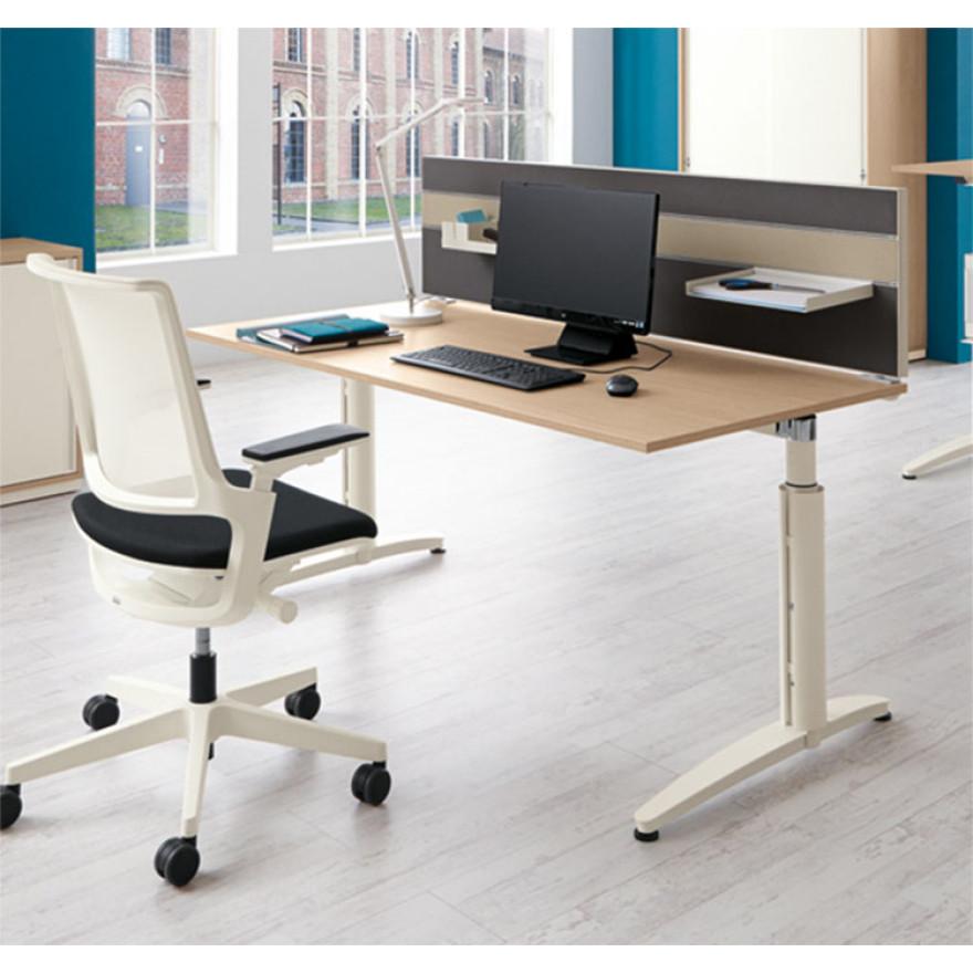 schreibtisch palmberg caldo 140 x 80 x 65 85 cm. Black Bedroom Furniture Sets. Home Design Ideas