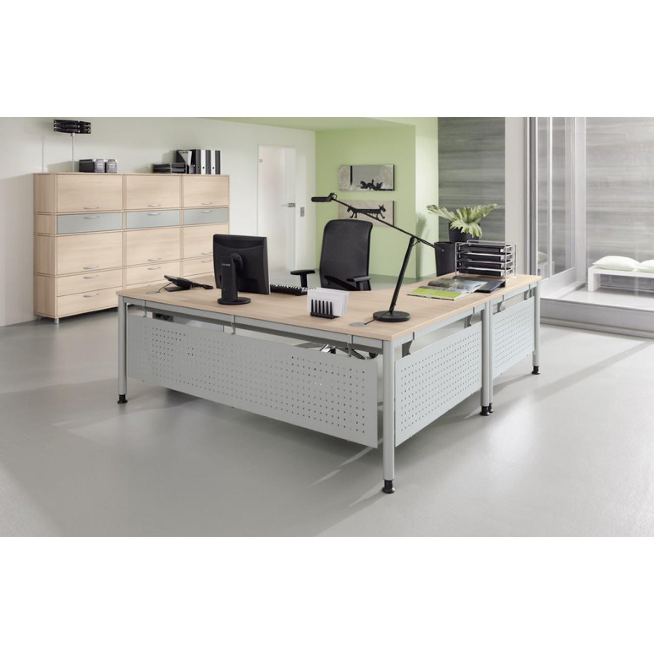 palmberg schreibtisch sinac tiefe 80 cm 80 200 cm. Black Bedroom Furniture Sets. Home Design Ideas