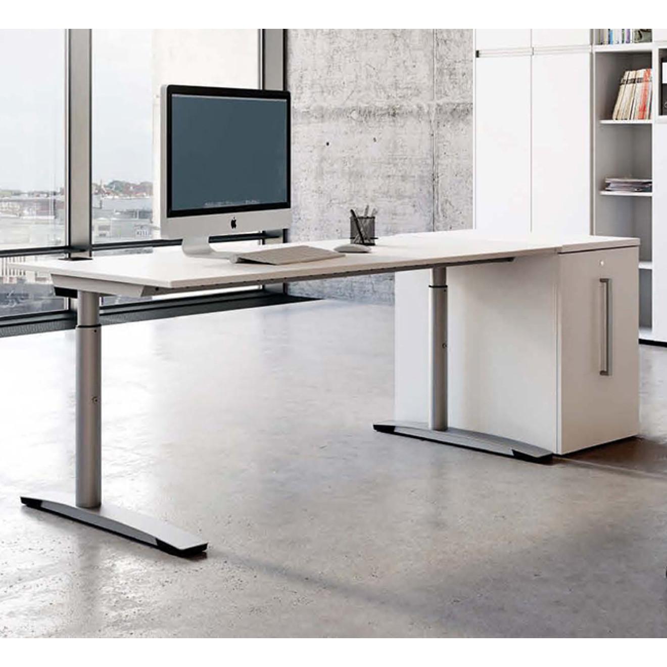 Finebuy schreibtisch massiv holz akazie computertisch 140 for Schreibtisch 70 breit